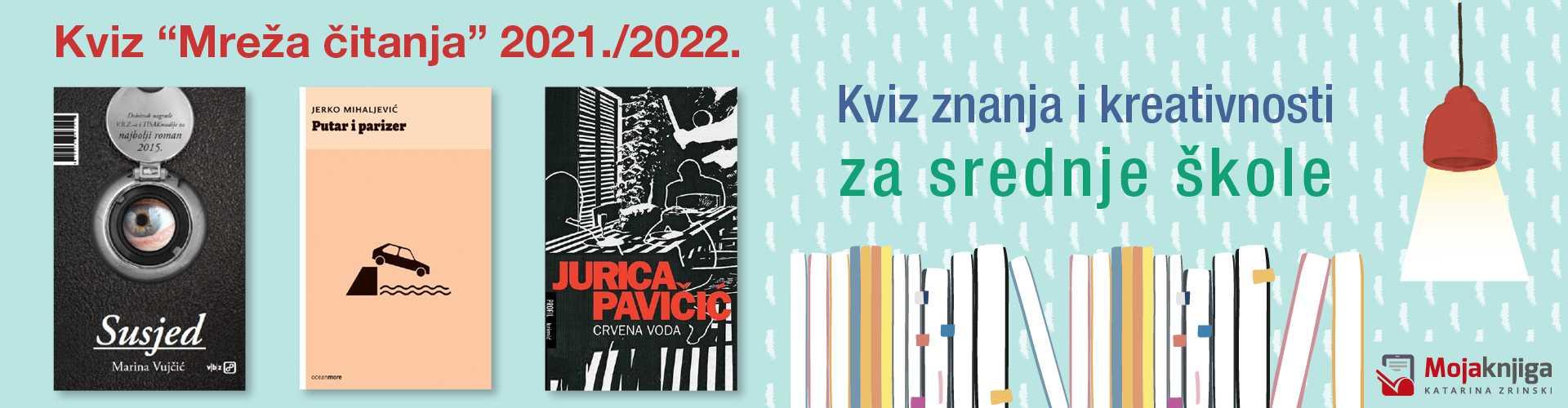 """Kviz """"MREŽA ČITANJA"""" za SREDNJE ŠKOLE 2021/2022"""